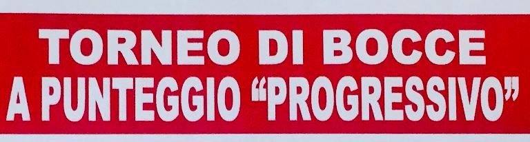 """Torneo di bocce a punteggio """"progressivo"""""""