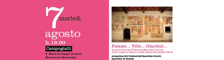 Palazzi, Ville e Giardini </br> e Festival del Quartetto d&#8217;Archi a Santa Maria in Campo Arsiccio