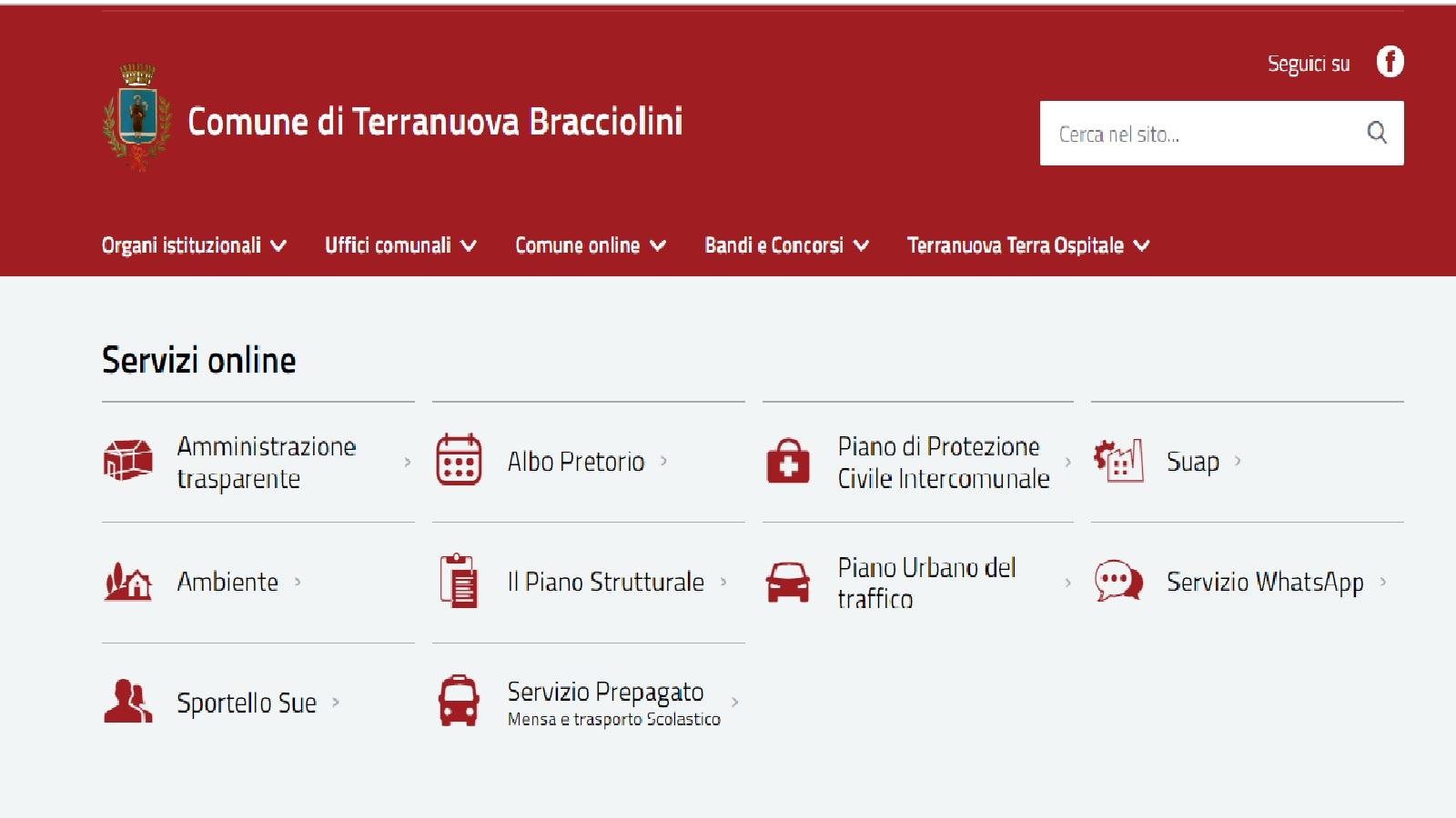 On line il nuovo sito internet del Comune di Terranuova ...